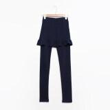 ขาย กางเกงผ้าฝ้ายยืดกางเกงกระโปรงผอมบาง สีน้ำเงินเข้ม Unbranded Generic ผู้ค้าส่ง