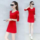 โปรโมชั่น Shi Yi Lin เสื้อผู้หญิง ยาวกลาง แขนยาว ทรงกว้าง สไตล์เกาหลี สีแดง ปกติ Edition สีแดง ปกติ Edition ใน ฮ่องกง