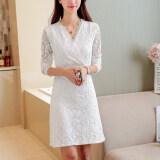 ขาย Xiang Xian Fei เสื้อผ้ากำมะหยี่หญิง คอวี ลายลูกไม้ สีขาว Favorite สุภาพ สีขาว Favorite สุภาพ ออนไลน์ ฮ่องกง
