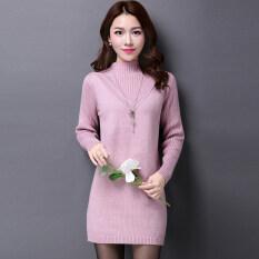 ส่วนลด สินค้า เสื้อสเวตเตอร์หลวมๆของผู้หญิง Yimantin สีชมพูและสีม่วง สีชมพูและสีม่วง