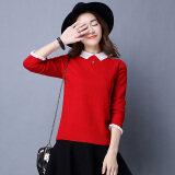 ราคา Yi Man Tin ผู้หญิงเสื้อถักแบบสั้น ดูผอม ปกตุ๊กตา สีแดง Unbranded Generic เป็นต้นฉบับ