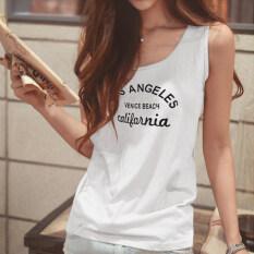 ซื้อ เสื้อกั๊กฤดูร้อนสลิงใหม่ไซส์พิเศษไซส์ใหญ่พิเศษหลวม Los รุ่นสีขาว ใหม่ล่าสุด