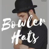 โปรโมชั่น หมวกทรงโบวเลอร์ Bowler Hats หมวกทรงชาลี Pure Wool Men Women Fedora Hat Navy Black Grey Floppy Brim Woolen Felt Bowler Hat Casual Dome Winter Derby Hat Caps