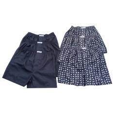 ขาย Boxers สีดำพื้น 3ตัว พิมพ์ลายช้างขาว 3 ตัว สีดำ ผ้าไหมเทียม กางเกงนอน กางเกงชั้นใน กางเกงใส่นอน กางเกงอยู่บ้าน สีดำ Men S Boxer Black Printed White Elephant 3 Buttons Mixed Polyester Cotton Black Loose เป็นต้นฉบับ