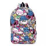 โปรโมชั่น เด็กชายและเด็กหญิง Graffiti ผ้าใบกระเป๋าสะพายกระเป๋าเป้สะพายหลัง หมวกสีฟ้า นานาชาติ จีน
