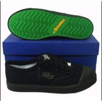 รองเท้าผ้าใบนักเรียน Breaker 4x4 สีดำ ส่งไวมาก