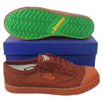 รองเท้ากีฬา รองเท้าฟุตซอลเด็ก Breaker BK-4x4 น้ำตาล