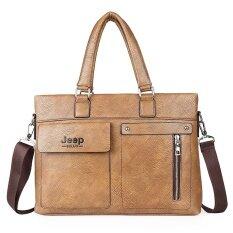 ซื้อ Briefcase 2017 New Fashion Retro Men S Horizontal Handbags Single Shoulder Oblique Cross Bag Intl