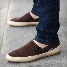ราคา Britsh Men S Casual Canvas Sneakers Slip On Loafer Moccasin Zapato Breathe Shoes Intl Intl Unbranded Generic เป็นต้นฉบับ