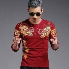 ขาย เสื้อยืดผู้ชาย ผ้าพิมพ์ลาย สไตล์เกาหลีmianke 9974 ไวน์แดง 9974 ไวน์แดง เป็นต้นฉบับ