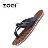 ส่วนลด สินค้า Bsi Mens Fashion Leather Flip Flops Summer Shoes Beachsandals Black Intl