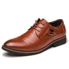 ซื้อ Businees รองเท้าหนังสำหรับสุภาพบุรุษรองเท้าแฟชั่นรองเท้าลำลอง นานาชาติ ถูก