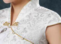ราคา Buyincoins สตรีจีนโบราณแบบแขนสั้นผ้าซาตินชุดกี่เพ้าของจีนร่างเพรียว Qipaoแต่งตัว ราคาถูกที่สุด