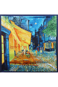 Buytra Women Silk Scarf Oil Painting Casual 1