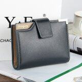 โปรโมชั่น Byt Baellery Korean Style Men S Leather Wallet With Zipper Coins Holder Dk19 Blue Baellerry