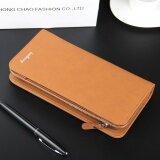 ราคา Byt Baellery Premium Pu Leather Long Men Wallet Handbag S410 Brown ที่สุด