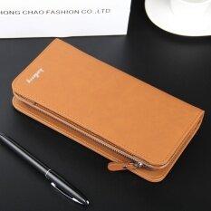 ราคา Byt Baellery Premium Pu Leather Long Men Wallet Handbag S410 Brown