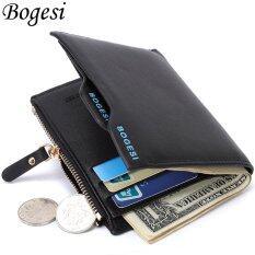 Byt Bogesi ยี่ห้ออเนกประสงค์ของกระเป๋าสตางค์หนังมนุษย์ Bogesi 836 สีดำ จีน