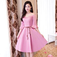 ขาย แฟชั่นสีชมพูสลิมเป็นบางชุดราตรีชุดเพื่อนเจ้าสาว C รุ่นสีชมพู 522 ออนไลน์ ใน ฮ่องกง