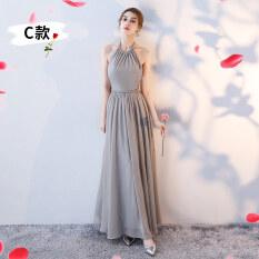 ขาย ซื้อ น้องสาวชุดใหม่แต่งตัวเพื่อนเจ้าสาว C รุ่นลึกสีเงินสีเทา ฮ่องกง