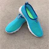 ราคา รองเท้าแฟชั่น รองเท้าผ้าใบตาข่ายผู้หญิงเดินออกกำลังกาย รุ่น C18 สีฟ้า เป็นต้นฉบับ