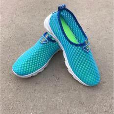 ส่วนลด รองเท้าแฟชั่น รองเท้าผ้าใบตาข่ายผู้หญิงเดินออกกำลังกาย รุ่น C18 สีฟ้า Unbranded Generic ใน Thailand