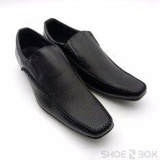 ขาย Cabaye รองเท้าคัชชูผู้ชาย รองเท้าทางการ Ca113 Black Cabaye เป็นต้นฉบับ