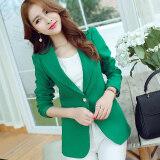 ส่วนลด Cai Dai Fei เสื้อสูทขนาดเล็ก แขนยาว แบบลำลอง ผู้หญิง สไตล์เกาหลี สีเขียว สีเขียว Unbranded Generic
