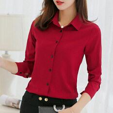 ราคา Caidaifei เสื้อผ้าแฟชั่น เสื้อเกาหลีฤดูใบไม้ผลิและฤดูร้อนใหม่สลิม ไวน์แดง ออนไลน์