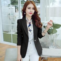 ราคา Cai Dai Fei เสื้อสูทขนาดเล็ก แขนยาว แบบลำลอง ผู้หญิง สไตล์เกาหลี สีดำ สีดำ Unbranded Generic ออนไลน์