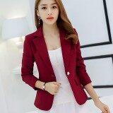 ขาย Caidaifei เสื้อผ้าแฟชั่น สูทเกาหลีฤดูใบไม้ผลิและฤดูร้อนใหม่หญิง สีแดง ฮ่องกง ถูก