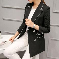 ซื้อ Caidaifei ฤดูใบไม้ผลิและฤดูร้อนใหม่ของผู้หญิงชุดสูท สีดำ ใหม่ล่าสุด