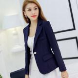 ซื้อ เสื้อสูทเล็ก ทรงเข้ารูปของผู้หญิง Caidaifei น้ำเงิน Rrr96 น้ำเงิน Rrr96 ใหม่