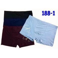 ขาย ซื้อ C L กางเกงชั้นในขาสั้นชาย 188 1 สีกรม เทา เลือดหมู ดำ 4 ตัว Set ไทย