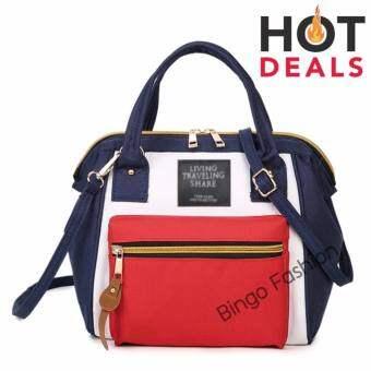 LOVE FashionJapan Women Bag Backpack กระเป๋าเป้สะพายหลัง - White/Red