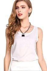 ขาย Candy Sleeveless Chiffon Shirt White Unbranded Generic