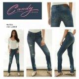 ขาย Candy Super Jeans กางเกงยีนส์ทรงสกินนี่ เอวปกติ ฟอกสี Candy ถูก