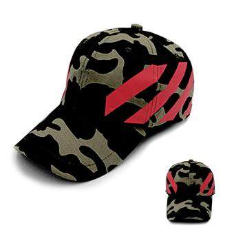 หมวกแก๊ป หมวกแฟชั่น หมวกผ้า หมวกแก๊ปสไตล์เกาหลี Cap hat Fashion hat Cloth cap Korean style (Green/สีเขียวลายทหาร)