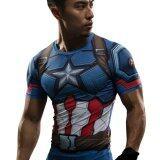 ขาย Captain America Civil War Tee 3D Printed T Shirts Men Iron Man Cosplay Costumes Fitness Compression Clothing Male Crossfit Tops Blue Int Xl Overseas Intl ถูก