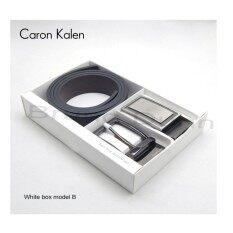 ขาย Caron Kalen Men Brand Deisnger Belt Buckle 2 In 1 Set Black Ck 1 White Box B Intl ใหม่