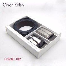 ขาย Caron Kalen Men Brand Deisnger Belt Buckle 2 In 1 Set Black Ck 1 White Box C Intl ถูก ใน จีน