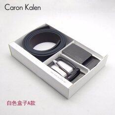 ส่วนลด Caron Kalen Men Brand Deisnger Belt Buckle 2 In 1 Set Black Ck1 White Box A Intl จีน
