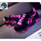 ทบทวน ที่สุด Secen Style สำหรับผู้หญิง รองเท้าผ้าใบ สวมใส่สบาย ใส่ได้หลายโอกาส สีดำ ชมพู
