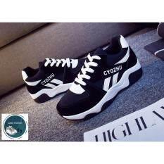 ส่วนลด สินค้า Secen Style สำหรับผู้หญิง รองเท้าผ้าใบ สวมใส่สบาย ใส่ได้หลายโอกาส สีดำ ขาว