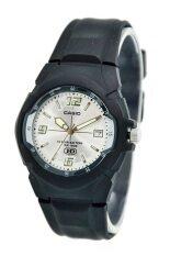 ราคา Casio 10 Year Battery นาฬิกาข้อมือสายเรซิ่น รุ่น Mw 600F 7Avdf Black Silver ใน ไทย
