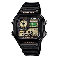 ซื้อ Casio นาฬิกาข้อมือ รุ่น Ae 1200Wh 1B Black ใหม่ล่าสุด