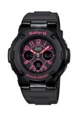 ราคา Casio Baby G นาฬิกาข้อมือผู้หญิง สีดำ สายเรซิ่น รุ่น Bga 117 1B1 Casio Baby G