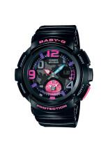 ขาย Casio Baby G นาฬิกาข้อมือผู้หญิง สีดำ สายเรซิ่น รุ่น Bga 190 1B Casio Baby G ถูก