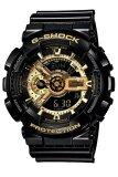 ซื้อ Casio G Shock นาฬิกาข้อมือผู้ชาย สีดำ สีทอง สายเรซิ่น รุ่น Ga 110Gb 1A