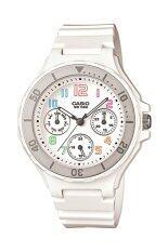 ราคา Casio นาฬิกาผู้หญิง สีขาว สายเรซิ่น รุ่น Lrw 250H 7Bvdf เป็นต้นฉบับ Casio